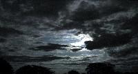 Night Sky, Moon, Clouds