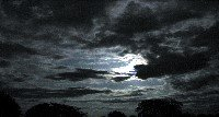 Night Sky, Moon, Clouds